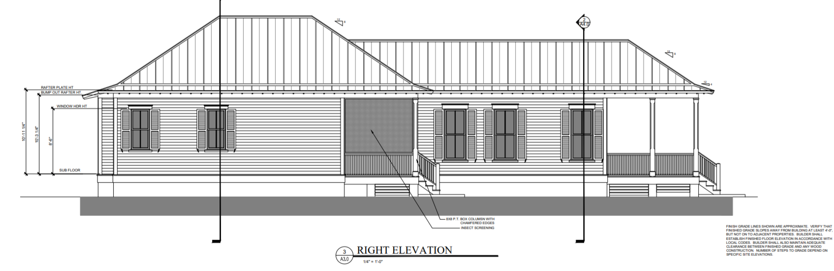 1103 14th St Port Royal Cottage Elevation