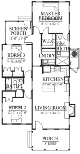 Jack Island Cottage Floor Plan